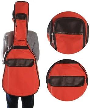 Funda para Guitarra Acústica 39 40 41 Tipo Mochila Color Rojo ...