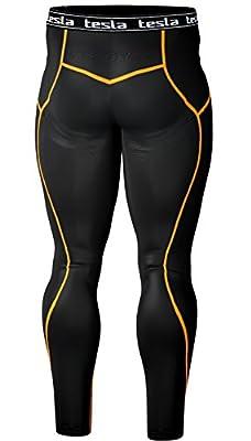 Tesla Men's Compression Under Leggings Base Layer Gear Armour Wear Long Pants