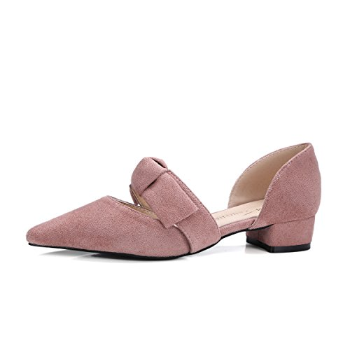 temperamento yalanshop spessa tacco basse papillon 1Color punta piedi a Baotou scarpe con sandali comode zSwrZz
