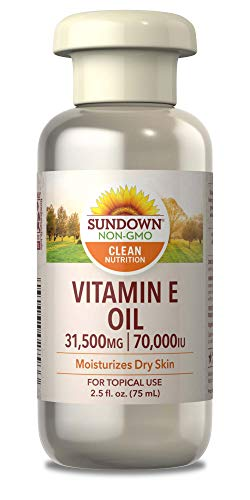 - Sundown Naturals Vitamin E Oil 70,000 IU, 2.5 fl oz (Pack of 3) (Packaging May Vary)