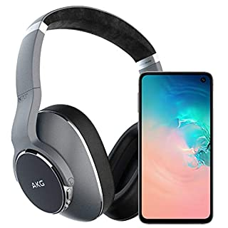 Samsung Galaxy S10e Factory Unlocked Phone with 128GB (U.S. Warranty), Prism White w/AKG N700NC Headphones