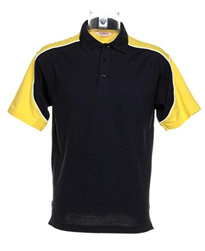 Gamegear Formula Racing Monaco Poloshirt KK611 schwarz/gelb Größe M