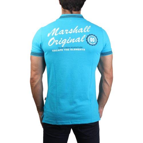M Aderente Taille Blu nbsp;– Turchese Taglio nbsp;m nbsp;m 1620 polo Neat Marshall Taglia Polo Uomo nxWE4688