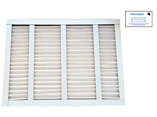 Dakota Supplies (Case of 12) 16-3/8 x 21-1/2 x 1 16-3/8x21-1/2x1 16 3/8 x 21 ½ x 1 MERV 8 Pleated AC Furnace Replacement Filter for Bryant Carrier Payne Air Handlers with Installation Date Stickers (Air Bryant Handlers)