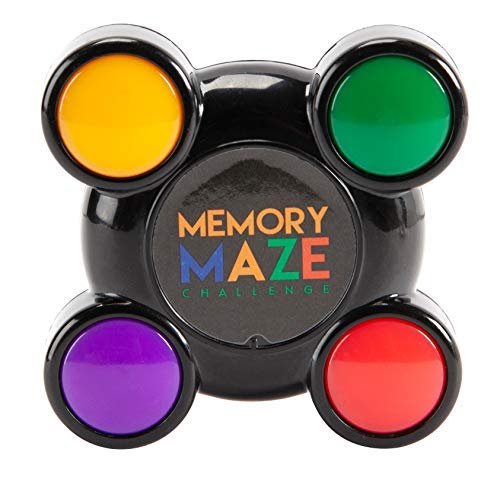 Fun Memory Maze Challenge Brainteaser with Light Up Buttons and Sound, Color Changing Sequences