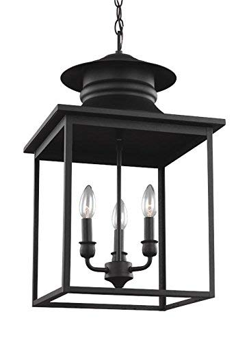 Sea Gull Lighting 5136103-839 Huntsville Three-Light Hall or Foyer Light Fixture, Blacksmith Finish