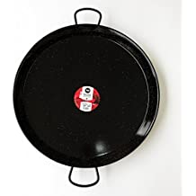 Enamelled Steel Valencian paella pan. 24Inch / 60cm / 20 Servings