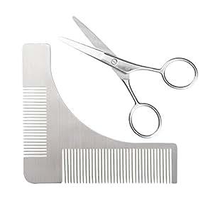 beard shaping tool and scissors kit beard