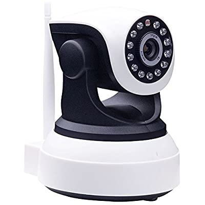 Keito Wireless WiFi 720P HD Pan Tilt IP Camera With Day/Night Vision,2 Way Audio, SD Card Slot, Alarm, Mobile Android/iPhone/iPad/Tablet Monitor for home security system