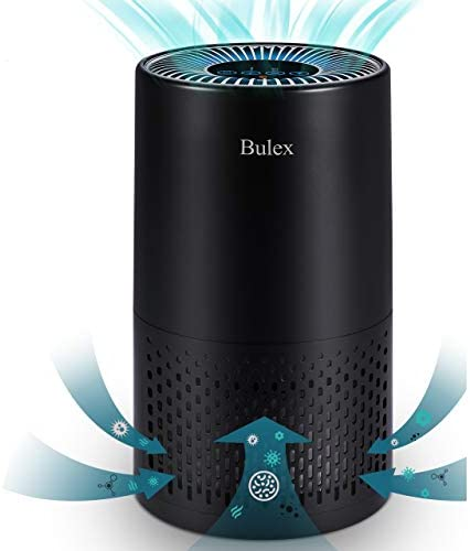 Bulex HEPA Air Purifier for Home, Large Room Up to 202ft², H13 True HEPA Filter for 99.97% Purification, 4-Stage Filtration, Desktop Filtration for Bedroom Kid's Room Office, Black