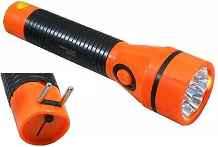 takestop® Lampada 7 LED 800 mAh Torcia Ricaricabile Multiuso