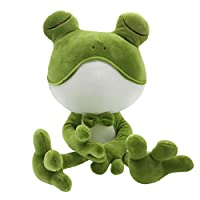 Frog Stuffed Animal Cuddly Frog Plush Doll Soft Stuffed Frog Companion Adorable Gift for Kids Creative Decoration 20 Inches