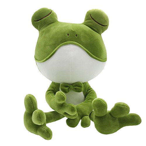 Frog Stuffed Animal Cuddly Frog Plush Doll Soft Stuffed Frog Companion Adorable Gift for Kids Creative Decoration 20 Inches ()