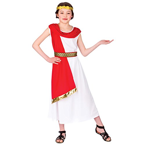 Roman Princess (11-13) Girls Fancy Dress Historical Costume - Ancient Rome Fancy Dress Costumes