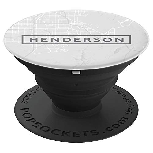 (Henderson City Nevada NV Street Map White - PopSockets Grip and Stand for Phones and)