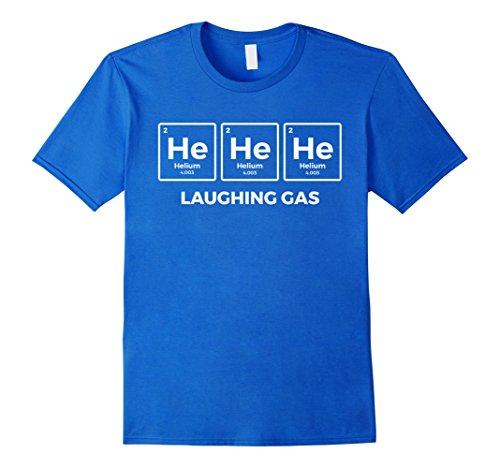 Laughing Man T-shirt (Mens He He He Laughing Gas T-shirt Large Royal Blue)