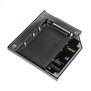LEICKE – Adaptador de Disco duro SATA / DUAL SATA 2. HDD/SSD para todo Notebook con 9,5mm - Apple MacBook/MacBook Pro , Sonny, HP   con la tecnología super rápida de LEICKE