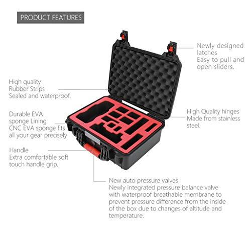 MOZATE PGYTECH Hardshell Shockproof Case Box Suitcase Bag for DJI Mavic 2 &Smart Controller (Black) by MOZATE (Image #8)