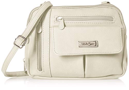 MultiSac Zippy Triple Compartment Crossbody Bag, White
