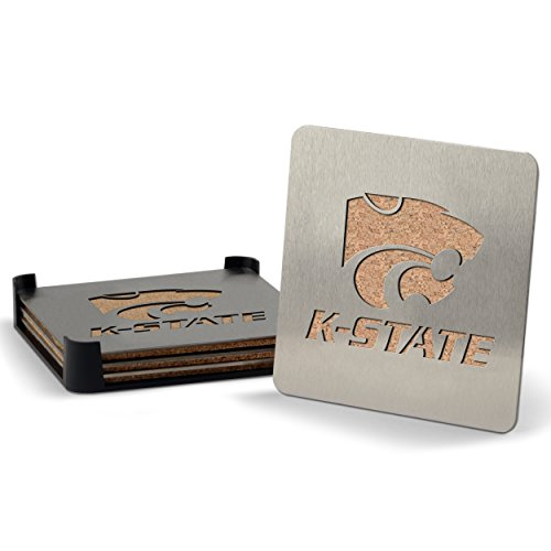 NCAA Kansas State Wildcats Boaster Stainless Steel Coaster Set of 4