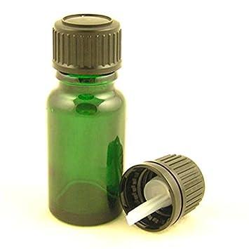 Botellas de vidrio Durham verde con un gotero negro estándar 10ml ...
