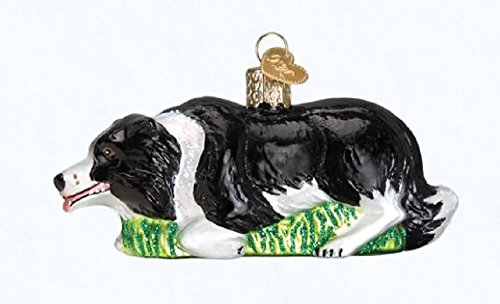Old World Christmas 12510 Ornament, Herding Border Collie (Ornaments Large Collie Border)