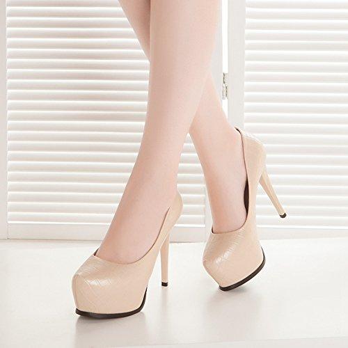 Heels Spring Fashion Pumps New Sexy Platform Stiletto Shoes Element Beige Women High Hoxekle Yq0wtUt