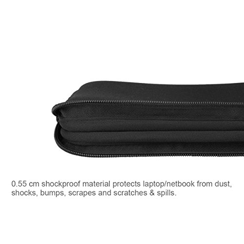 Arvok 11-12 Inch Laptop Sleeve Multi-Color & Size Choices Case/Water-Resistant Neoprene Notebook Computer Pocket Tablet Briefcase Carrying Bag/Pouch Skin Cover for Acer/Asus/Dell/Lenovo, Black