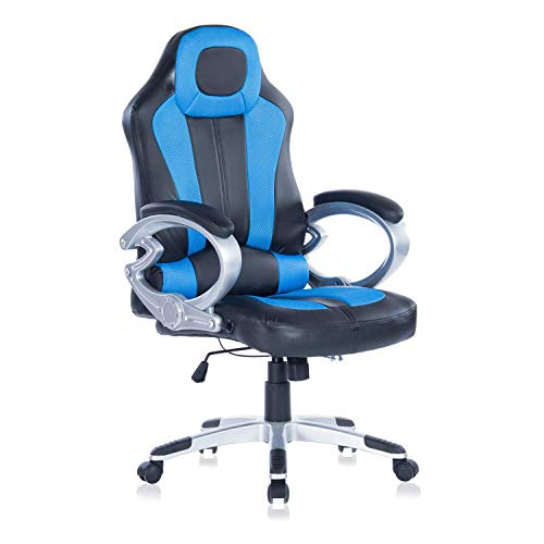 HEALGEN Gaming Chair Executive Office Chair PU Leather Computer Desk Chair (Blue) Anji Zijie Import & Export Trading Co., Ltd.