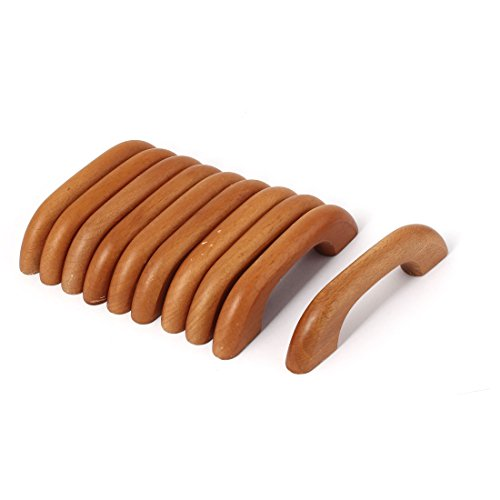 uxcell Cupboard Closet Drawer 64mm Hole Distance Wooden Wood Pull Handle Bar 10 Pcs