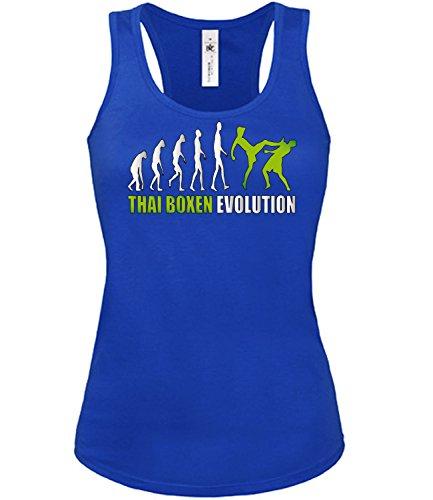 THAI BOXEN EVOLUTION mujer camiseta Tamaño S to XXL varios colores S-XL Azul / Blanco