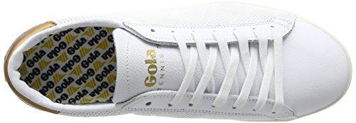 Gola Mens Tennis 79 Mesh Gymnastiksko Vit / Guld Nylonnät / Läder