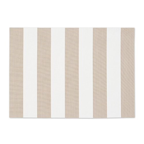 12 x 18 in. Striped PVC Placemat Grey 2/pack