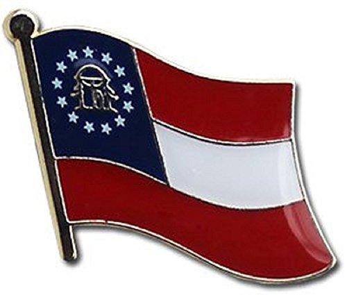 State of Georgia GA Flag Bike Motorcycle Hat Cap lapel Pin (Pin Georgia Lapel)