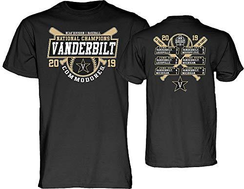 Elite Fan Shop Vanderbilt Commodores Baseball College World Series Champs Tshirt CWS 2019 Scores - L - - Series World Champions