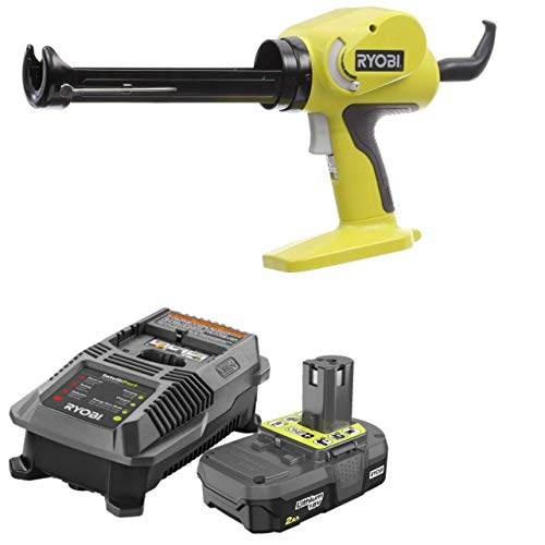Ryobi 18-Volt ONE+ Power Caulk Adhesive Gun P310G with Charger and 2Ah Battery (Renewed) ()