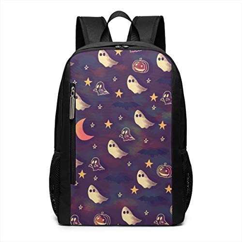 CZZD Watercolor Halloween Ghost and Pumpkin Travel Laptop Backpack Schoolbags Men and Women On Campus]()