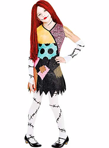 HalloCostume Girls Sally Costume - The Nightmare Before Christmas, Halloween Costumes for Girls