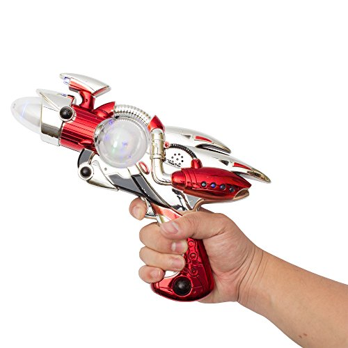 Retro Space Gun (Fun Central (AT763 LED Space Flash Toy Gun, Light Up Space Gun, LED Space Gun, Flashing Toy Gun, Glowing Space Gun, Space Toy Gun Kids- Colors May)