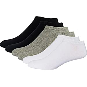 Low Cut Ankle No Show Casual Cotton Socks Unisex 6-Pack