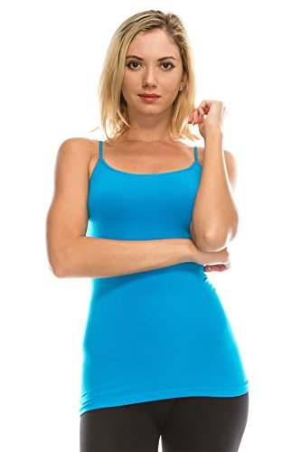 Kurve American Made Basic Seamless Cami, UV Protective Fabric UPF 50+ (Made with Love in The USA) Turquoise