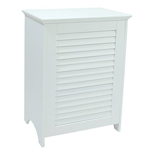 Redmon 5208 KD White Louvered Hamper (Hamper White)