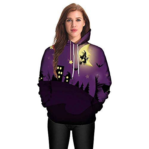Clearance!Youngh Men Women Halloween Blouses Plus Size Mode