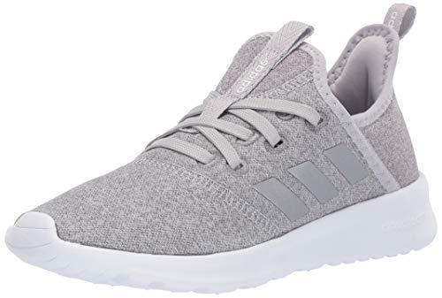 (adidas Kids Cloudfoam Pure, Grey/Silver Metallic/White, 3.5 M US Big Kid)