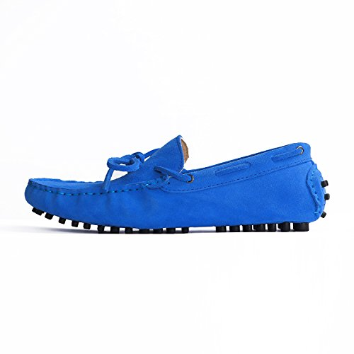 Suede Flats Loafers Blue Men's Sapphire Turn Ons Slip US7 qwZ7Hxg