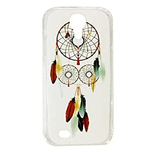JJE Fashion Special Feathers Dreamcather Pattern Plastic Hard Case for Samsung S4 I9500