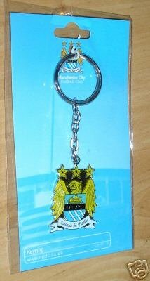 Manchester City Footbal Club Crest Keyring Official Licensed Product