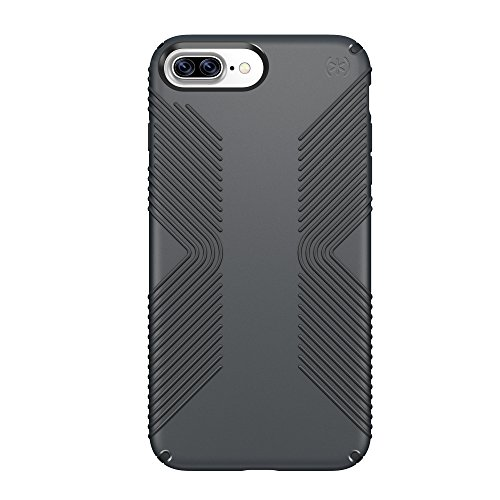 Speck Products 79981-5731 Presidio Grip Cell Phone Case for iPhone 7 Plus, 6S Plus and 6 Plus - Graphite Grey/Charcoal Grey