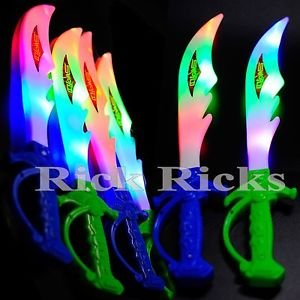 12 Light-Up Ninja Swords w/ Sound Flashing LED Toy Sticks Glow Lot WHOLESALE from Unknown
