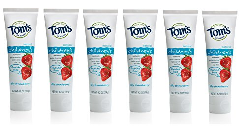Tom's of Maine Fluoride Free Children's Toothpaste, Silly Strawberry, 4.2 Ounce (Pack of 6) by Tom's of Maine (Image #1)